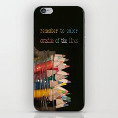 Color outside of the lines iPhone & iPod Skin