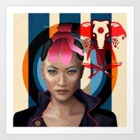 Queen Of Darkness Far Cr… Art Print