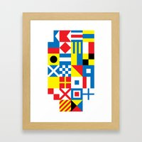 International Alphabetical Marine Signal Flags Framed Art Print