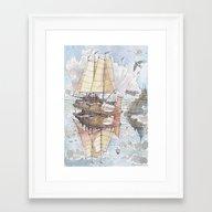 Il Veliero Volante E La … Framed Art Print
