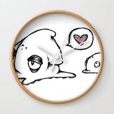 Squid Love Wall Clock