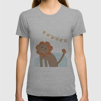 Lion Collage Womens Fitted Tee Athletic Grey SMALL