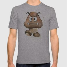 Goomba Mens Fitted Tee Athletic Grey SMALL