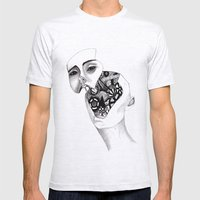 Robot Mens Fitted Tee Ash Grey SMALL
