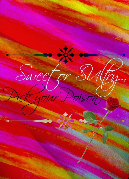 Sweet or Sultry - Sexy Crimson Red Valentine's Day Stripes Typography Abstract Watercolor Painting Art Print