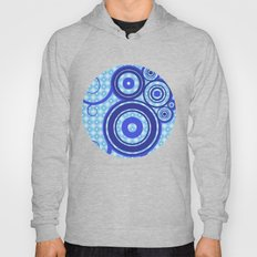 Blue squares and blue circles - Geometric work Hoody