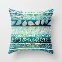 Dreamy Tribal Part VIII Throw Pillow