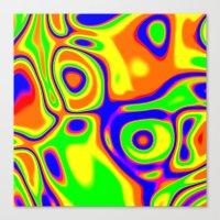 Chaotic Impact Canvas Print