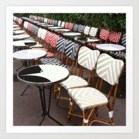 Paris Café Chairs Art Print