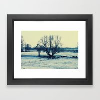 Winter  - JUSTART © Framed Art Print