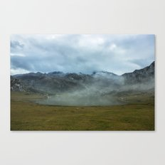 Mountain Lake In A Cloud Canvas Print