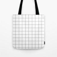 White Grid  /// www.pencilmeinstationery.com Tote Bag