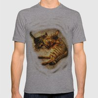 Cats Mens Fitted Tee Athletic Grey SMALL