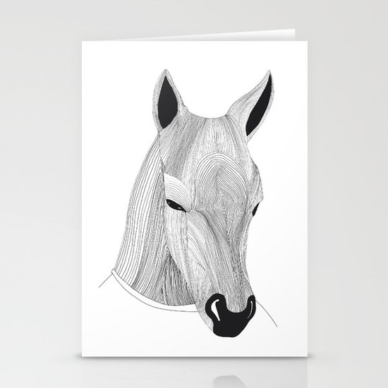 -Horse- Stationery Card