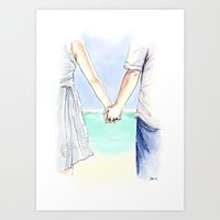 Katie & Tom Art Print