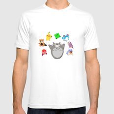 Video game Anime Character Rainbow Mens Fitted Tee SMALL White