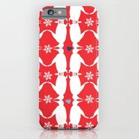 iPhone & iPod Case featuring Penguin Couple Dancing on Snow by CarmanPetite