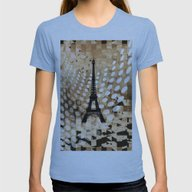 Paris Womens Fitted Tee Athletic Blue SMALL