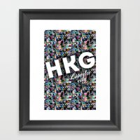Hong Kong (Libertee City) Framed Art Print
