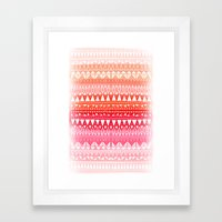 Triangle Gradient Pink M… Framed Art Print