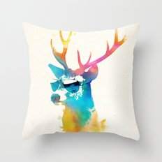 Sunny Stag Throw Pillow