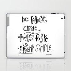 Nice + Risks = Happiness  Laptop & iPad Skin