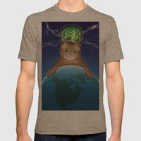 Fluffy Domination Mens Fitted Tee Tri-Coffee SMALL
