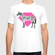 Horse Diamond Mens Fitted Tee White SMALL