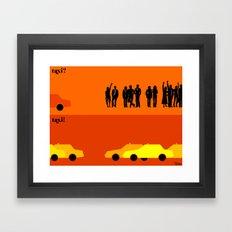 le taxi Framed Art Print
