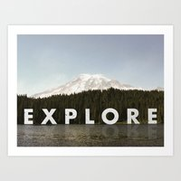 Go Explore Art Print