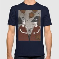 Ana and Eva (An All Hallows' Eve Tale) Mens Fitted Tee Navy SMALL