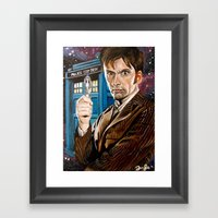 The Tenth Doctor And His… Framed Art Print
