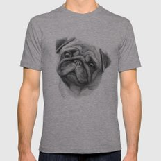 The Pug G123 Mens Fitted Tee Athletic Grey SMALL