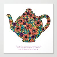 Teapot Warmth Canvas Print