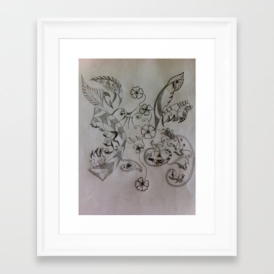 Hummingbird Framed Art Print