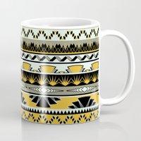 Art Deco Stripes - Honey Mug