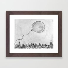 Move Along Framed Art Print