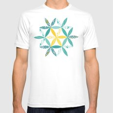 Patchwork Sunshine SMALL Mens Fitted Tee White