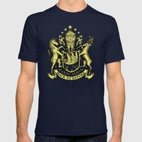 Back to nature Mens Fitted Tee Navy SMALL