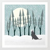 The Wolf Month Art Print