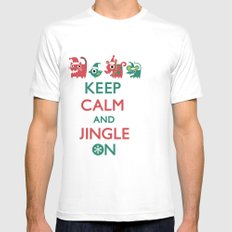 Keep Calm and Jingle On Mens Fitted Tee SMALL White