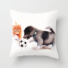Red Vs. Blue Throw Pillow