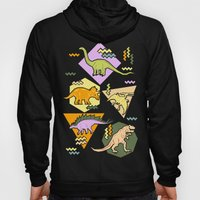 Nineties Dinosaur Pattern version 2. Hoody