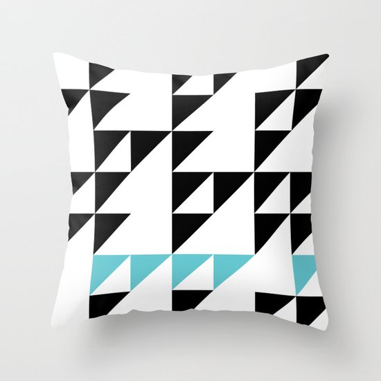 Tri Pixel Throw Pillow