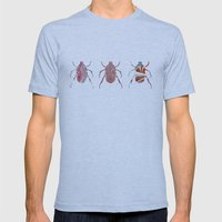 Painted Beetles Mens Fitted Tee Athletic Blue SMALL