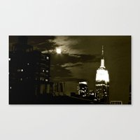NYC under the moon Canvas Print