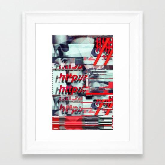 Glitch Decon 1 Framed Art Print