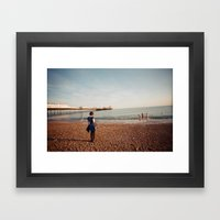 Staring At The Sea #2 Framed Art Print