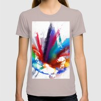 Dancing Peacock  Womens Fitted Tee Cinder SMALL