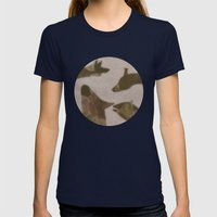 animal invasion (ii) Womens Fitted Tee Navy SMALL